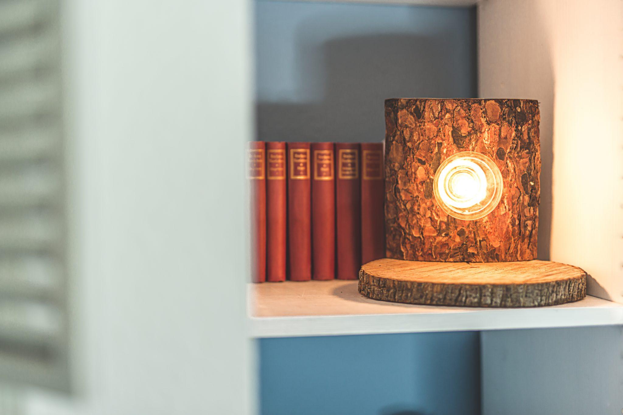 Rustikale Stehlampe